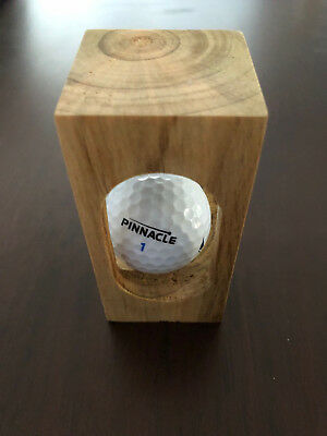 Impossible Wood Object With Golf Ball Inside Ornament Collectable Novelty Decor