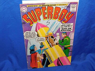 DC Comics SUPERBOY #79 Life On Krypton GD