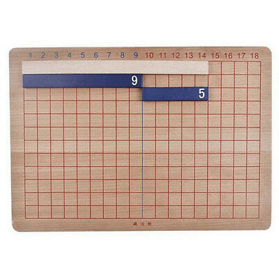 Holz Montessori Mathematik Lehrmaterial Addition Subtraktion Board Mini FamiE1Z4