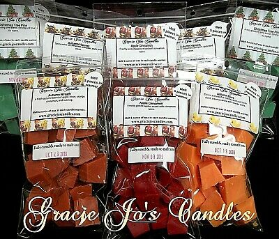 100 Bulk Candle Sale Wax Tarts Melts Chunks Crumbles Chips Cubes Candle Home