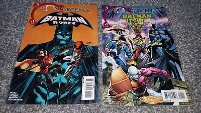 CONVERGENCE: BATMAN & ROBIN #1 + & OUTSIDERS #1 (2015) DC EVENT - 2 Comics