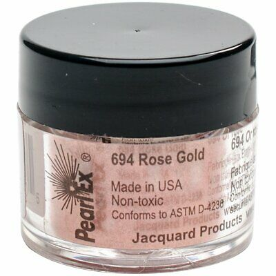 Jacquard Products JPX7694 Rose Jacquard Pearl Ex Powdered Pigment, 3g, Gold