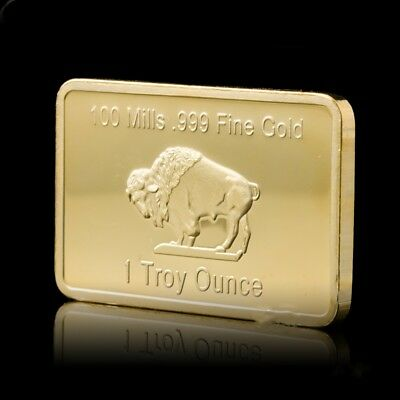 100 Mils 999 Gold Fine 1 Troy Ounce 24k Business Gold Souvenir Buillion