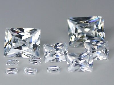 CZ Rectangle Colorless 2x4mm 6x8mm 10x12mm Loose AAA Cubic Zirconia Gemstone