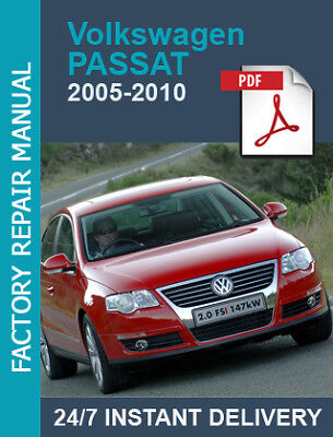 VW Passat B6 2005 2006 2007 2008 2009 2010 3C 3C2 3C5 service workshop manual