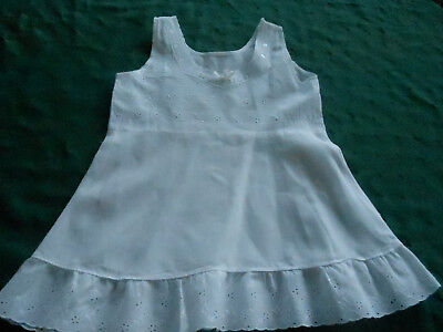 Vintage Toddler's Petticoat With Embroidered Eyelet And Ribbon Trim, Circa 1940