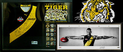 2017 Richmond Tigers Premiers Signed Jumper & Dusty Martin Wings Framed Package