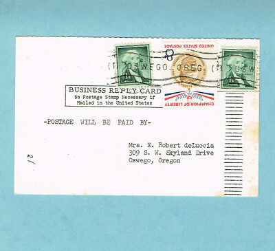 Champion Of Liberty 8c Magsaysay On Business Reply Card 3572