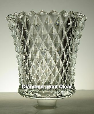 Home Interior Diamond POINT clear votive cup w/ rubber grommet