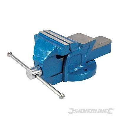 """Silverline Engineers Vice fixed Base 100mm (4"""") 4.5kg 633792"""