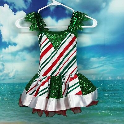Curtain Call Costumes Christmas Dance Halloween Child Small Dress Up Striped