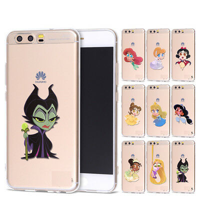 Disney Cartoon Soft Clear Case Cover For HUAWEI P8 P9 10 Lite 2017 P20 Pro Nova