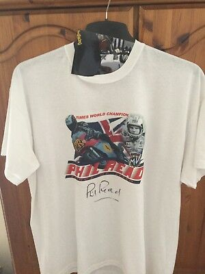 Phil Read signed T Shirt signed during TT