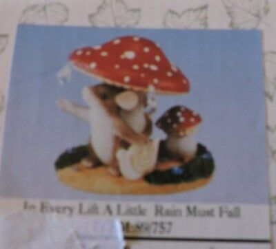 """Charming Tails """"in Every Life A Litle Rain Must Fall"""" By Fitz And Floyd. In Box."""
