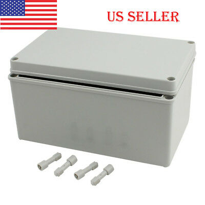 US Plastic Grey IP66 Junction Box Electrical Enclosure Project Case Natural