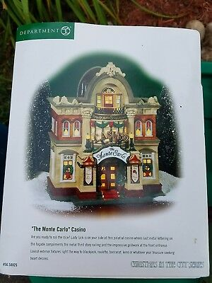 Dept 56 The Monte Carlo Casino #56-58925 Christmas In The City