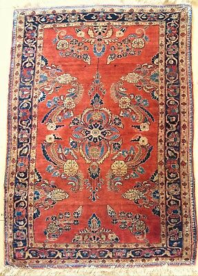 Fine Antique Saroukh Carpet / Rug