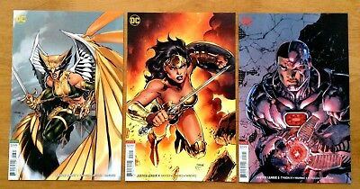 Justice League 3,4,5 2018 B Cover Variants Jim Lee  Covers 1st Prints DC 2018 NM