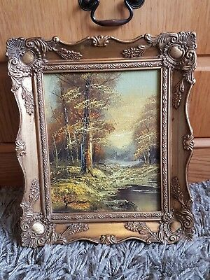 Antique Vintage Oil Painting Signed