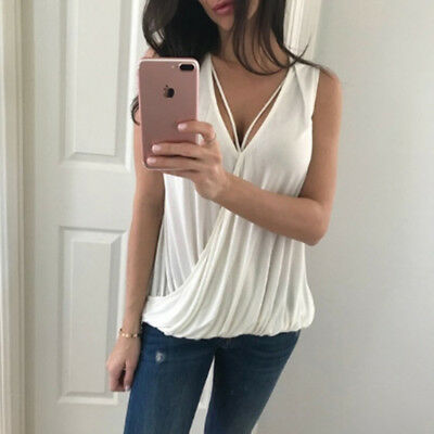 Ladies Womens Deep V Neck Sleeveless Cropped Top Strappy Bralet one