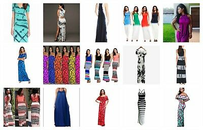 US SELLER-wholesale lot of 30 Boho Style bohemian maxi long dresses for women