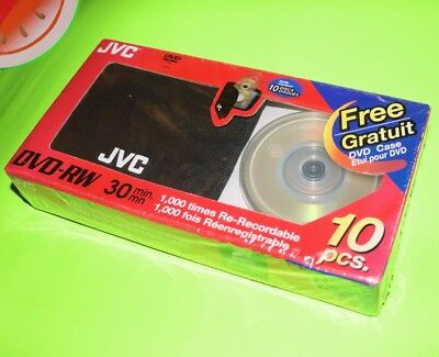 JVC Re-Recordable Mini DVD-RW 30 Minute 10 pcs TAIYO YUDEN GameCube size