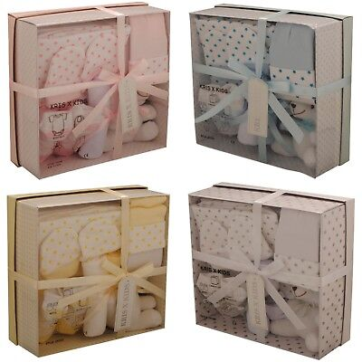 7 Piece New Baby Boy Blue Girl Pink Unisex Gift Box Set Ideal Baby Shower