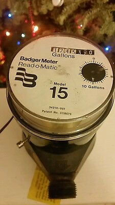 Badger Model 15 Plastic Water Meter