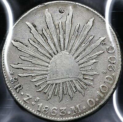 1863Zs-MO EIGHT 8 REALES REPUBLIC OF MEXICO