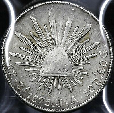 1875Zs-JA EIGHT 8 REALES REPUBLIC OF MEXICO