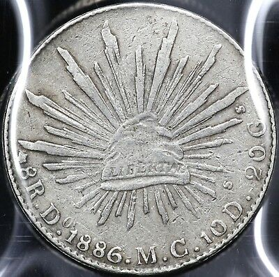 1886Do-MC EIGHT 8 REALES REPUBLIC OF MEXICO