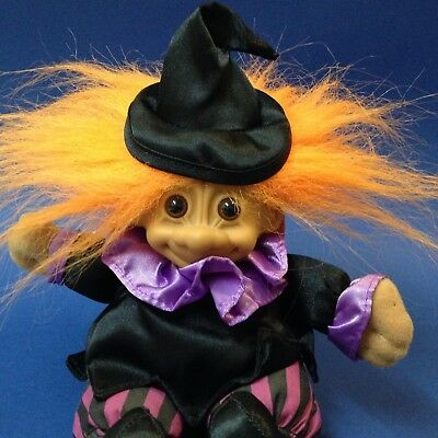 "RUSS TROLL - Witch Soft Doll  - #3857 - Approx 18cm (7"") - Halloween"