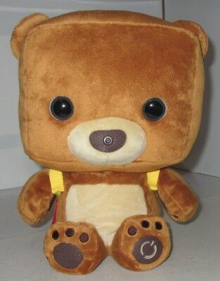 Smart Toy Bear Fisher Price Talking Learning Interactive Plush Stuffed Toy USED