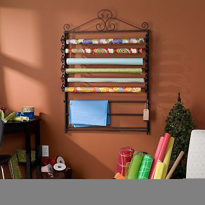 Harper Blvd Leal Black Wrapping Paper and Craft Storage Rack