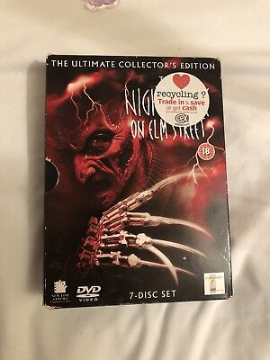 Nightmare On Elm Street Collection (DVD, 2004, 7-Disc Set, Box Set) (Pre Owned)