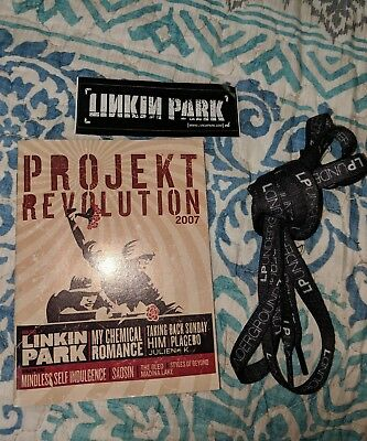 Linkin Park Shoelaces, Projekt Revolution Playbill 2007 & Hybrid Theory Sticker