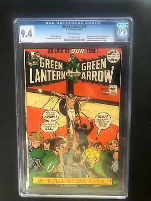 Green Lantern 89 !!cgc 9.4  !! Bronze Age Classic  !! Awesome Cover !!