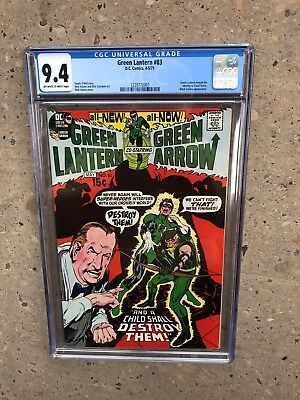 Green Lantern 83 !! Cgc 9.4  !! Bronze Age Classic  !! Awesome Cover !!