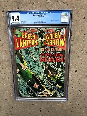 Green Lantern 81 !! Cgc 9.4  !! Bronze Age Classic  !! Awesome Cover !!