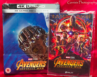 Avengers: Infinity War Zavvi SteelBook 4K Ultra HD Blu-ray + Art Cards