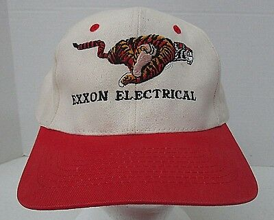 Exxon Electrical Tiger Hat Snap Back KC Brand Embroidered Red Bill
