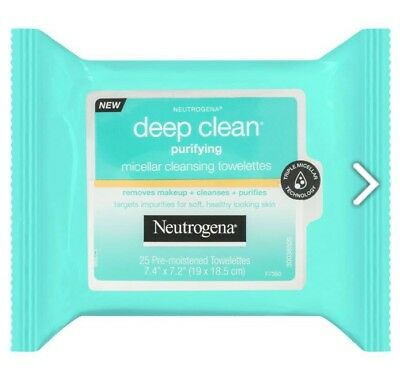 Neutrogena Deep Clean Purifying Micellar Cleansing Towelettes 25