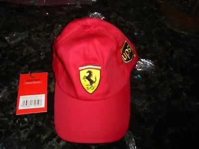 Ferrari/United Parcel Service Official Product-Red Baseball Cap-One Size-New
