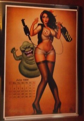 Nathan Szerdy Signed 12X18 Signed Art Print Ghostbusters Retro Pin Up Calendar