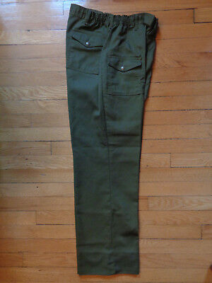 Vintage Boy Scout Uniform Pants, Olive, Twill, 34x31