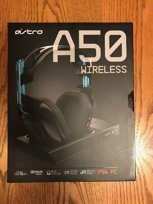 ASTRO A50 Wireless Headset + Base Station for PS4 / PC / MAC - Gen 3 Black Blue