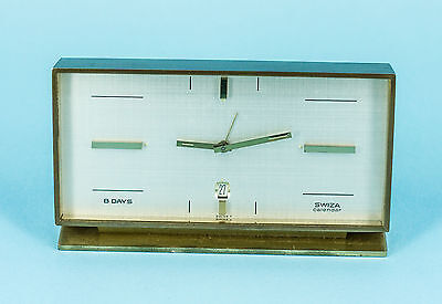 Swiza Calendar 8 days Art Deco Vintage Wind-Up Alarm Clock
