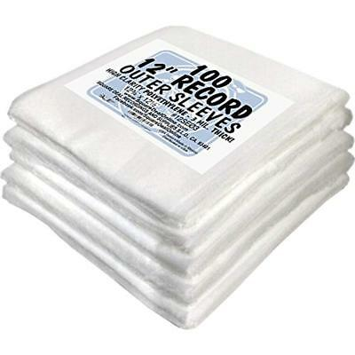 """Media Storage & Organization (500) 12"""" Record Outer Sleeves - INDUSTRY STANDARD"""