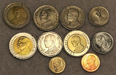 set 10 different coins from THAILAND
