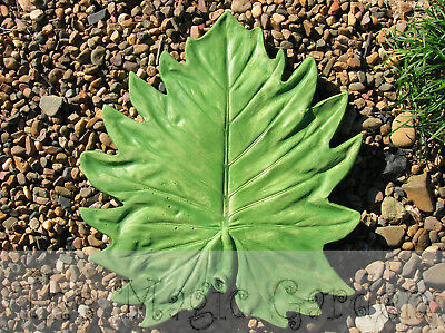 Large leaf stepping stone paver cement concrete latex moulds molds